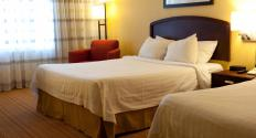 Travel agents can assist with booking hotel rooms.