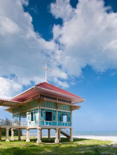 Post and pier construction can be found in tropical and flood-prone regions.
