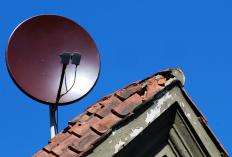 Surveillance cameras can be hidden inside satellite dishes.