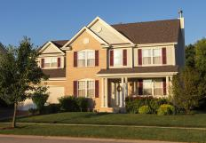 In a mortgage lien, the home serves as collateral for unpaid debt.