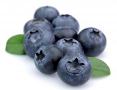 Blueberries, which can be included in cornbread muffins.