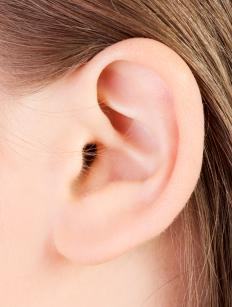 Ear drops may be used to treat ear infections.