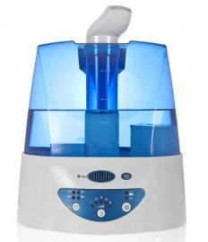 A humidifier adds moisture to the air to help relieve congestion.