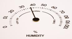 One type of hygrometer uses hair, usually human, that is attached to levers inside the unit.