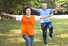 The movements of tai chi are often slow and deliberate, making it an excellent form of exercise for older people.