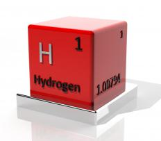 Atoms of hydrogen and oxygen are generated through water splitting.