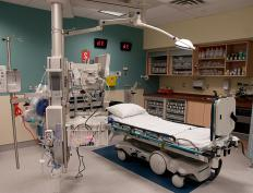 Many patients in an ICU require a ventilator, as they are unable to breathe on their own.
