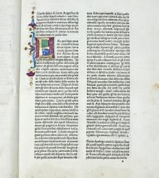 An illuminated manuscript is a book or scroll that includes ornamental borders, capitals, and illustrations.