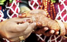 The mehndi dance is often celebrated in India when a bride's hands and feet are painted with elaborate henna designs.