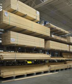 Wood choices for railings include treated lumber, softwoods and hardwoods.