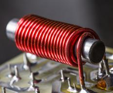 An inductor generates a magnetic field when current is applied to it.
