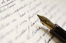 Handwriting analysis is used to try to ascertain personality traits of the writer.