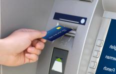 There is typically a service fee involved with using an ATM machine.
