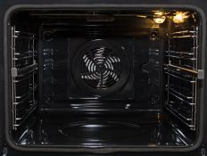 Convection ovens have a fan to distribute heat throughout the oven, contributing to more consistent and faster cooking.