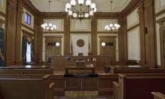 A court case tried solely in front of a judge is referred to as a bench trial.