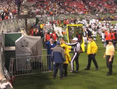 One method of instant replay involves a video official looking at recorded footage and using it to overturn the field official's decision if necessary.
