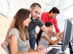 Classes on computer drafting applications are a part of architectural training.