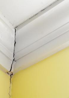 Foundation cracks may be a sign of structural damage.