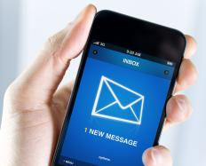 Cell phone providers may offer the option of blocking incoming text messages that originate from the web.