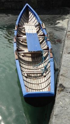 The currach, which is a type of boat native to Ireland and western Scotland, uses a leather hull that is stretched over a wooden frame.
