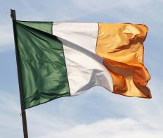 The flag of Ireland, which is associated with Saint Patrick.