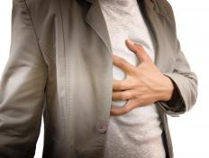 Sudden chest pain is a symptom of acute angina.