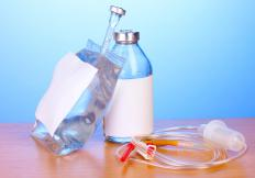 Antibiotics can be included in intravenous solutions.