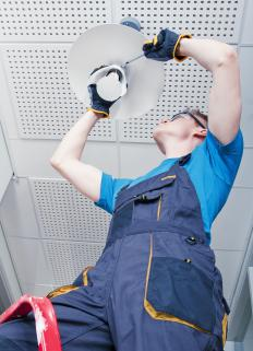 Building maintenance workers are responsible for electrical maintenance of a building.