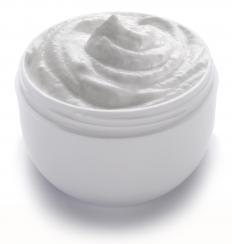 Hydroquinone cream, a type of skin whitening cream.