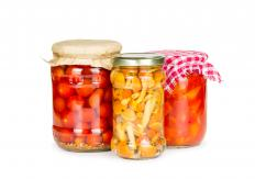 Cold-pack canning can be used to preserve fruits and vegetables.