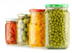 Vegetables pickled in vinegar.