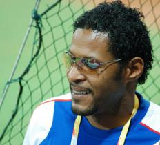 Cuba's Javier Sotomayor used the Fosbury flop technique to jump 8 feet, 0.5 inches in 1993.