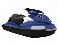 A personal watercraft is designed to transport one to two people.