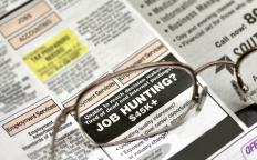 Job training seminars may be advertised in a local newspaper.