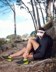 Injuries are possible when trail running.