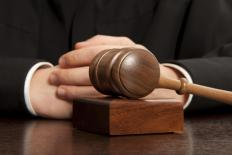 Judges often base their decisions on previous similar legal cases.