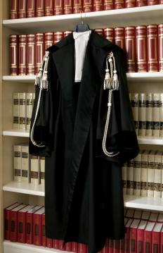Long robes are a common basis of court dress.