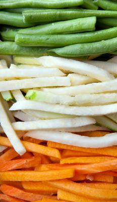 Julienne is a based knife cut often used on vegetables.