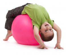Pilates exercises may be performed with a stability ball.
