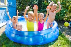Inflatable pools have cushioning in case the child slips.