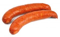 Kielbasa, a common type of sausage.