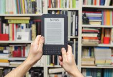 Electronic textbooks can be read using an e-reader device.