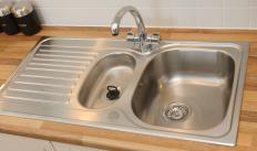 A sink made of stainless steel is often easier to clean than other types of sinks.