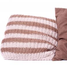 Pillows can be knitted or crocheted.