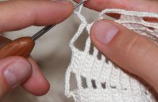 A small hook and fine yarn can create delicate ornaments.