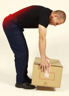 Improperly lifting heavy objects may cause a sacroiliac sprain.