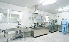 Some types of laboratory experiments require workers to use an air shower before entering.