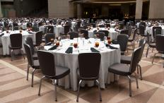 A banquet hall is one example of a short term rental property.