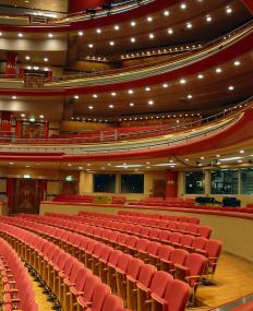 Concert halls use sound baffles to improve the acoustics.