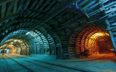Large tunnels in a coal mine